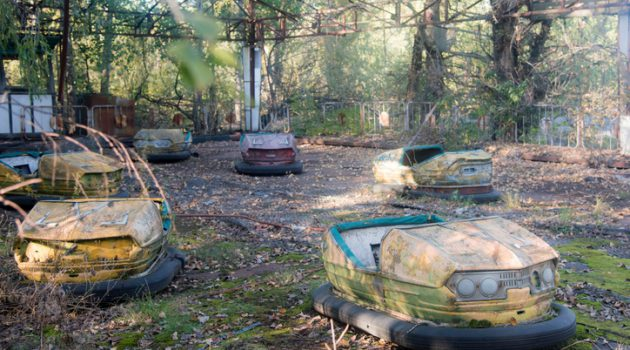 The amusement park of Pripyat , It was to be opened for the first time on May 1, 1986, in time for the May Day celebrations but these plans were scuttled on April 26, when the Chernobyl disaster occurred a few kilometers away